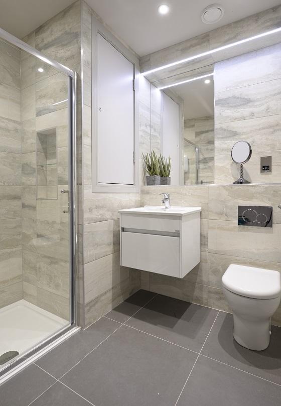 Bathroom at Charlotte Square Apartments
