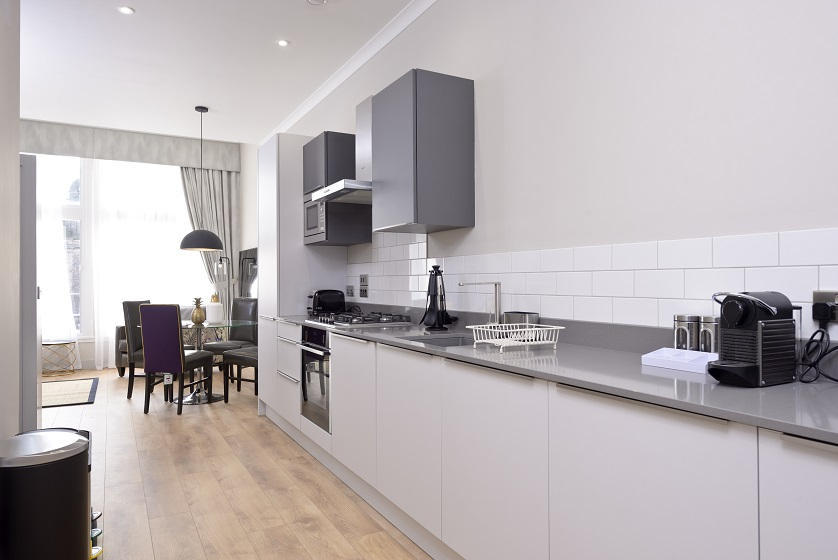 Clean kitchen at Charlotte Square Apartments