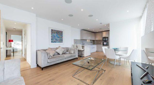 Living room at Camden St Pancras Way Apartment