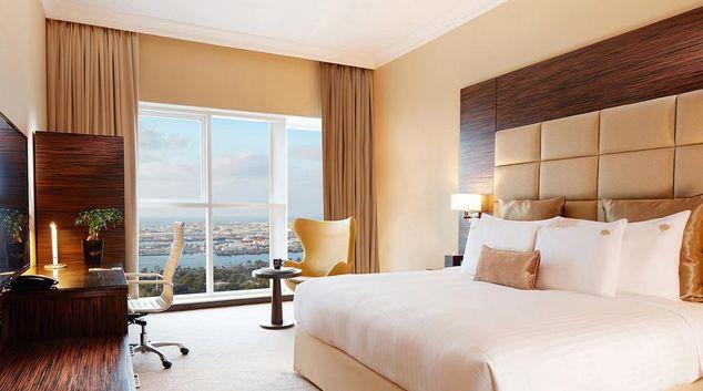 Bedroom at the Jannah Burj Al Sarab Apartments