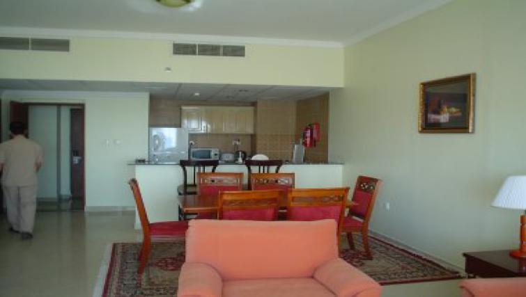 Spacious kitchen in Al Dafna Apartments