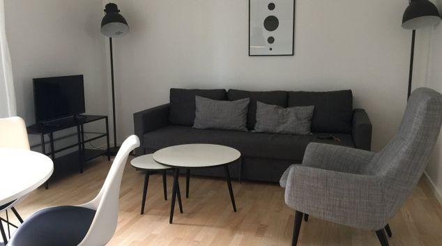 Living room at Edvard Thomsens Apartments