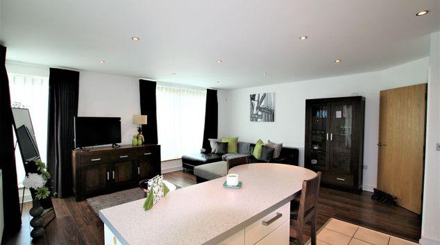 Living room at Niche Bond Street Apartment