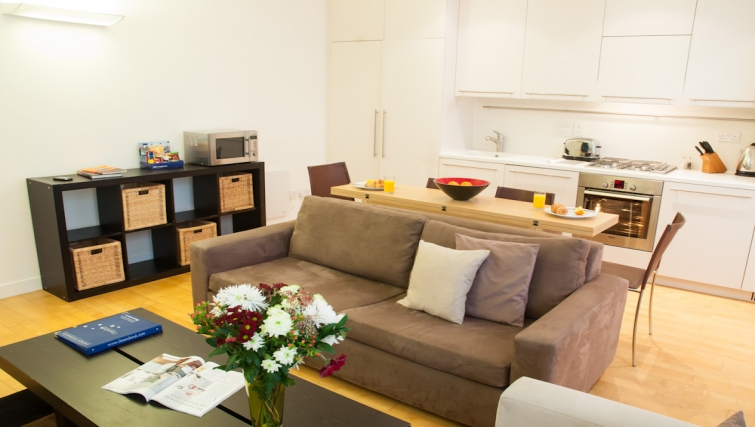 Bright living area at Clarendon Steward Street
