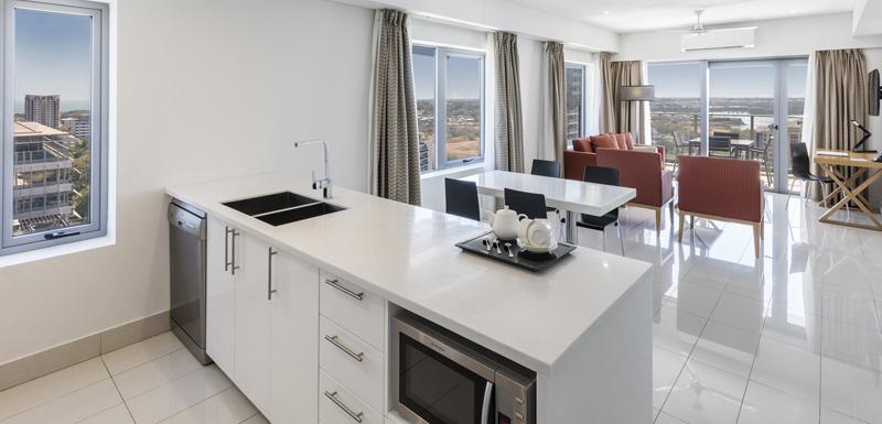 Kitchen at Oaks Darwin Elan Hotel Apartments