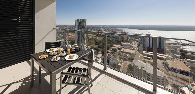 Balcony at Oaks Darwin Elan Hotel Apartments