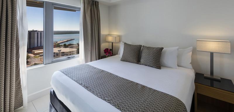 Bedroom at Oaks Darwin Elan Hotel Apartments