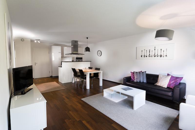 Living room at Paderewski 26 Apartments