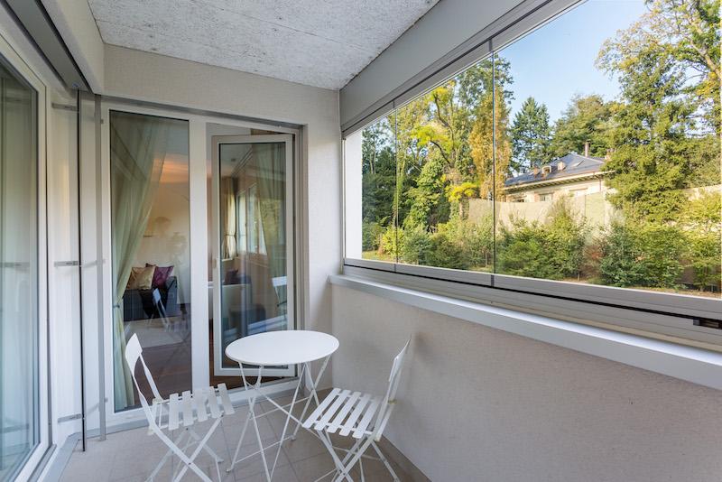 Balcony at Paderewski 26 Apartments
