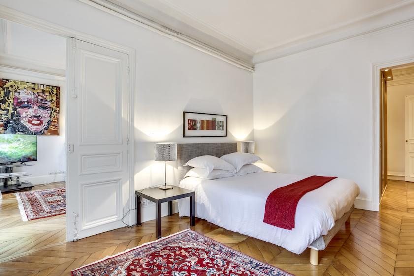 Bedroom at Rue du Petit Musc Apartment