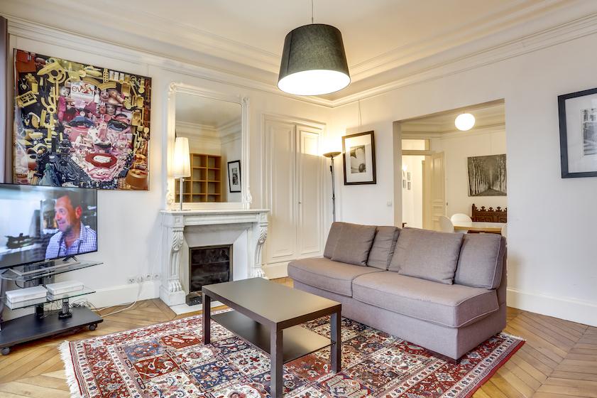 Lounge at Rue du Petit Musc Apartment