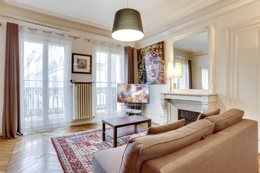 Living room at Rue du Petit Musc Apartment