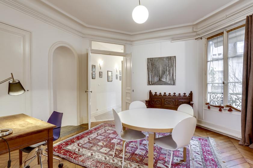 Table at Rue du Petit Musc Apartment