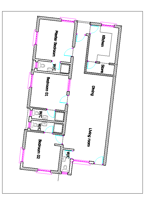 Floor plan 3 at Andy Offor Street Apartments