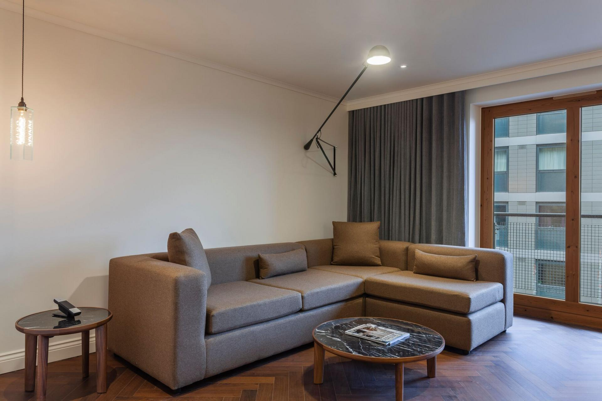 Living room at The Roseate Reading Apartments