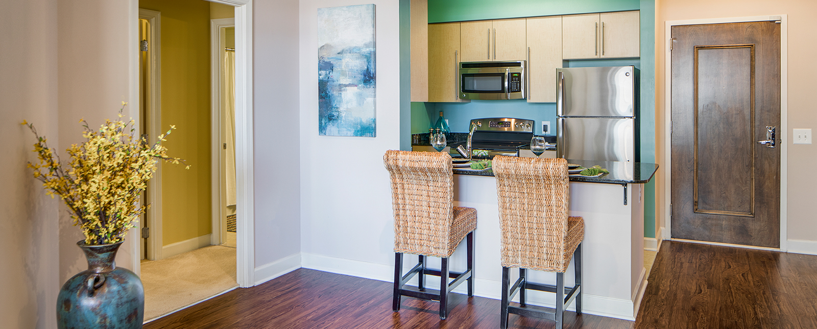 Kitchen area at Spinnaker Bay Serviced Apartments