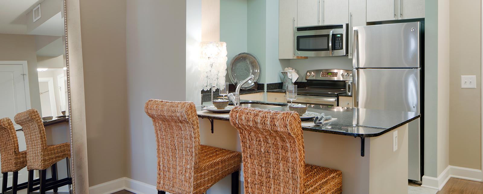 Kitchen at Spinnaker Bay Serviced Apartments