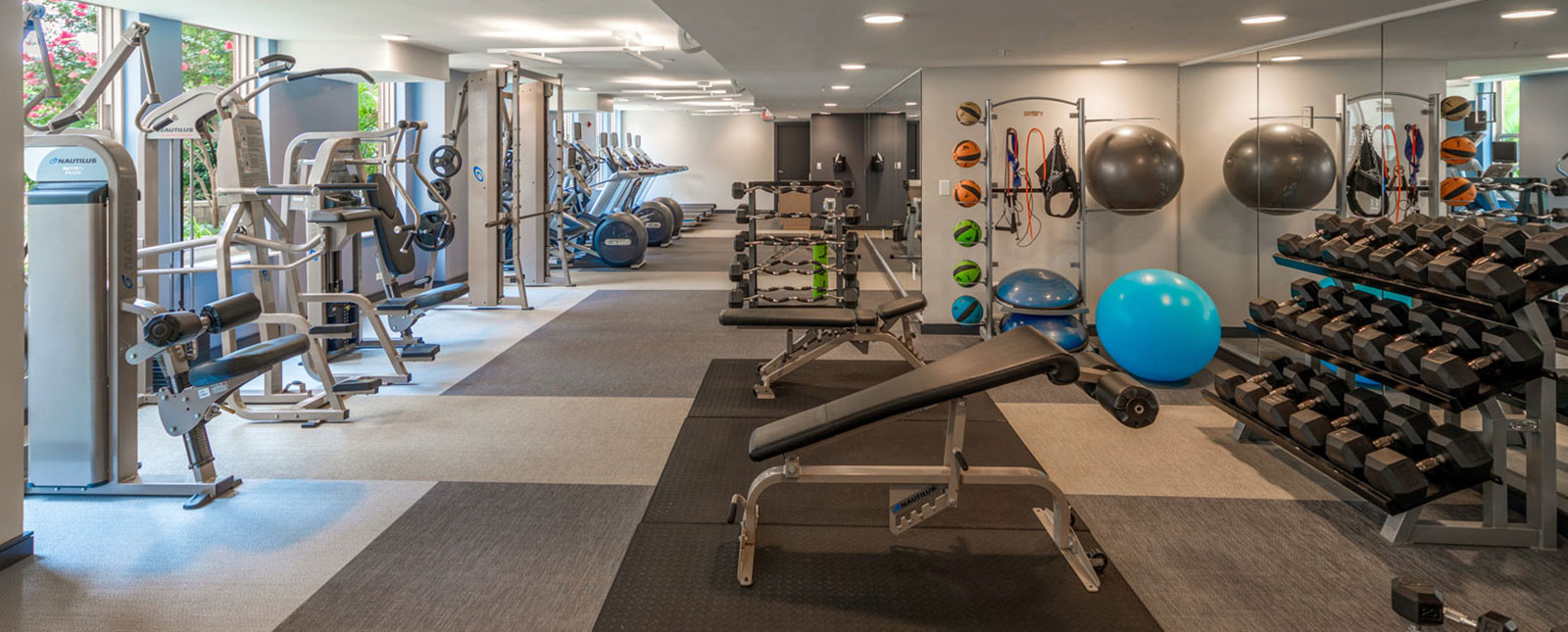 Gym area at Spinnaker Bay Serviced Apartments