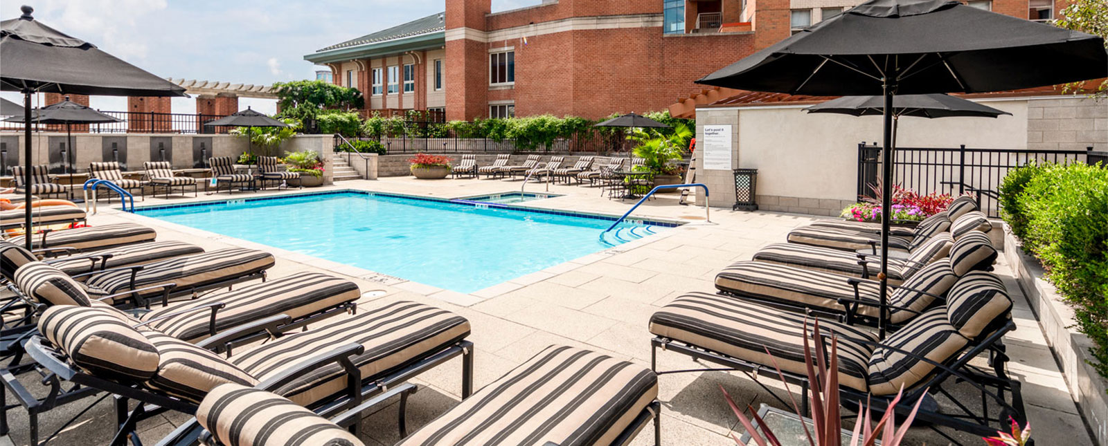 Pool area at Spinnaker Bay Serviced Apartments