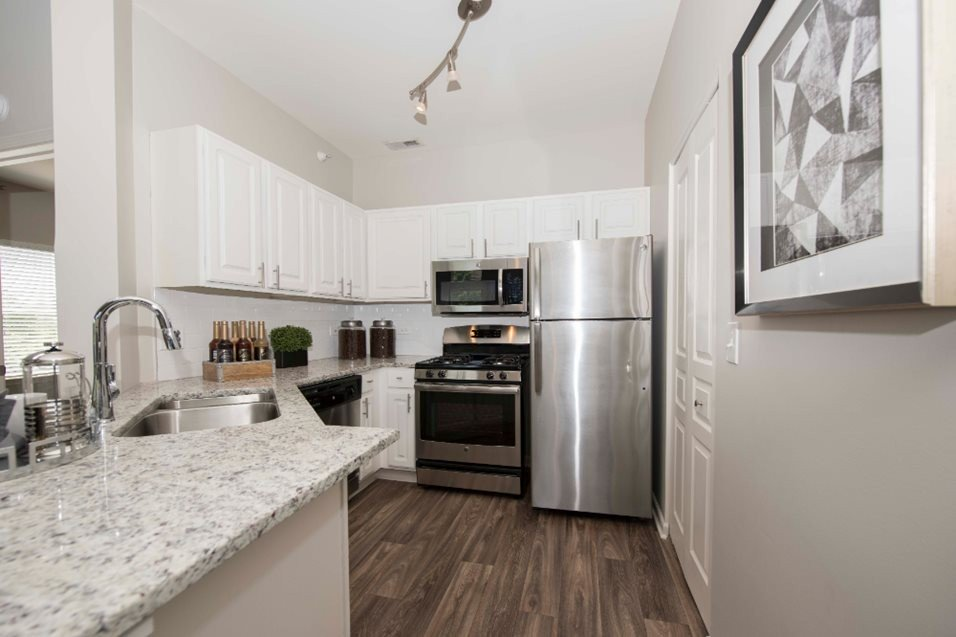 Kitchen at Grand Reserve of Naperville Apartment