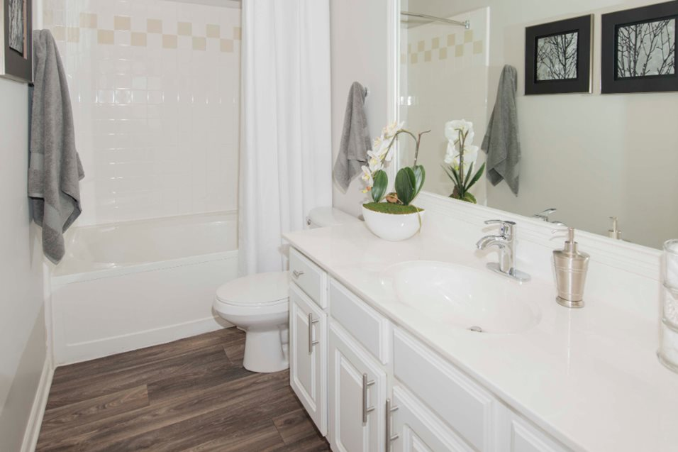 Bathroom at Grand Reserve of Naperville Apartment