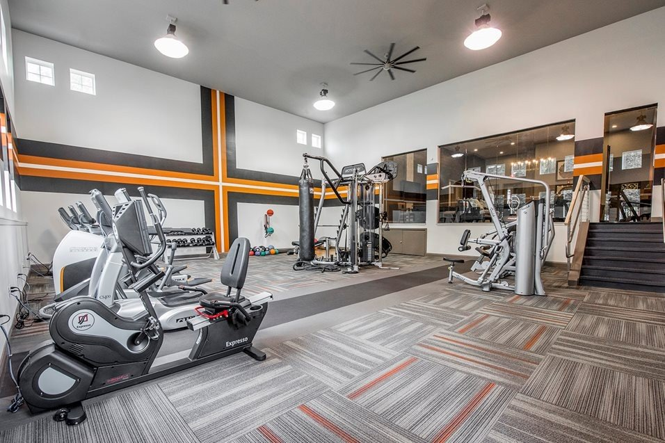 Fitness Centre at Grand Reserve of Naperville Apartment
