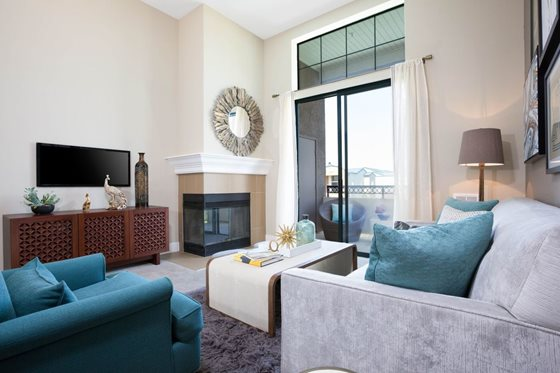 Living Room at Bridgepointe Apartments San Mateo