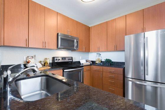 Kitchen at Bridgepointe Apartments San Mateo