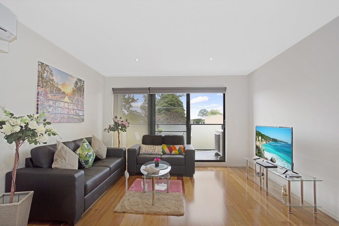 Living room at Glen Waverley Apartments