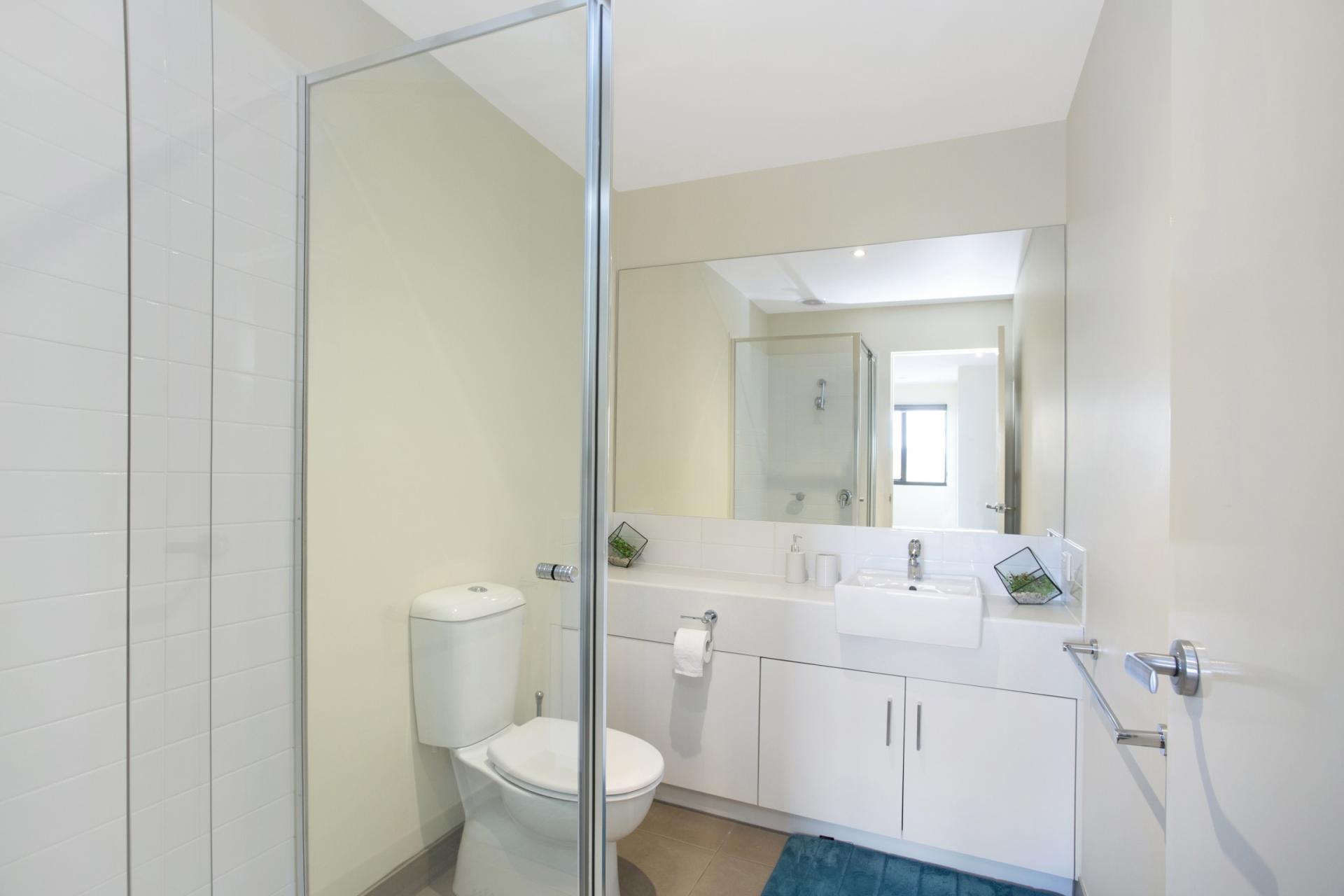 Spacious bathroom at Glen Waverley Apartments