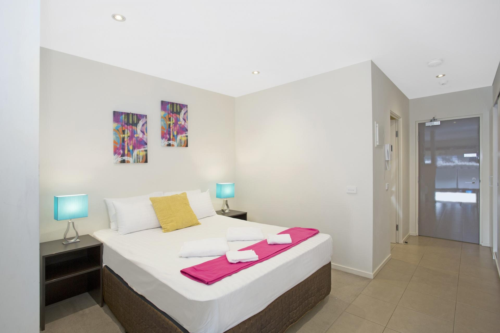 Spacious bedroom at Glen Waverley Apartments