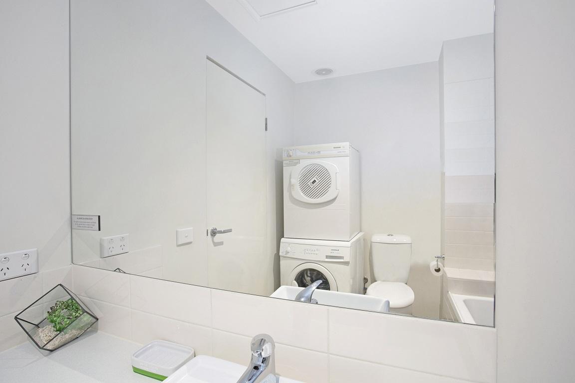 Bright bathroom at Glen Waverley Apartments