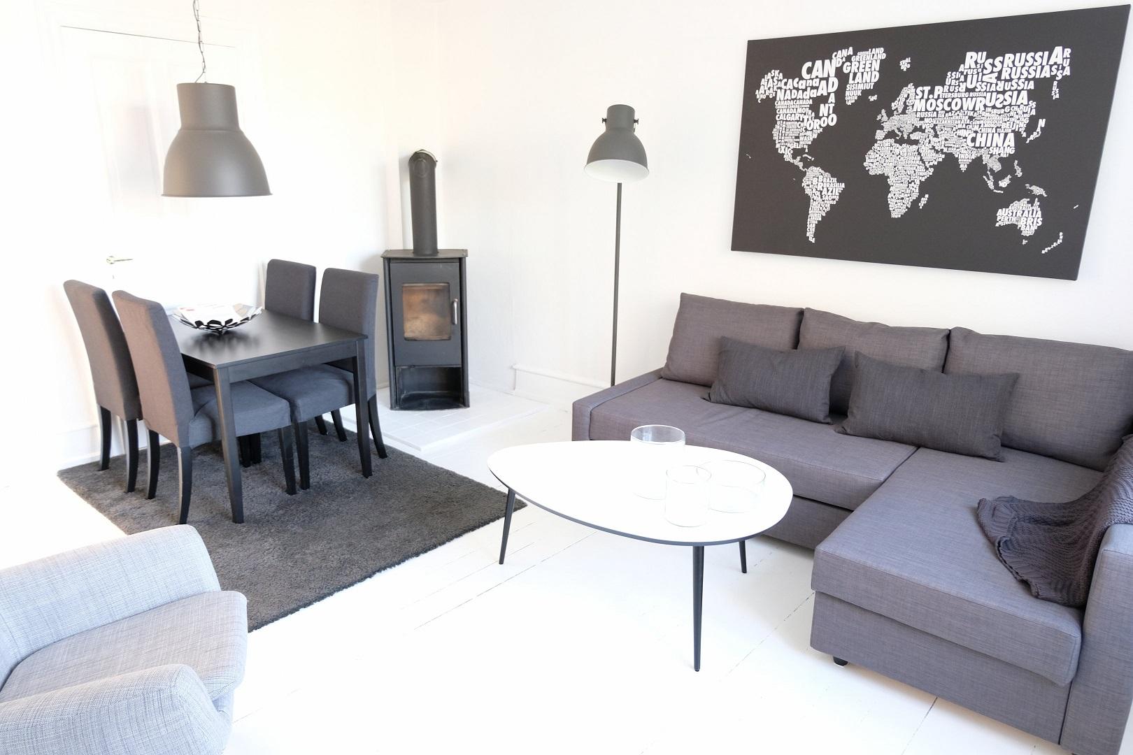 Living area at Næstvedgade Apartment