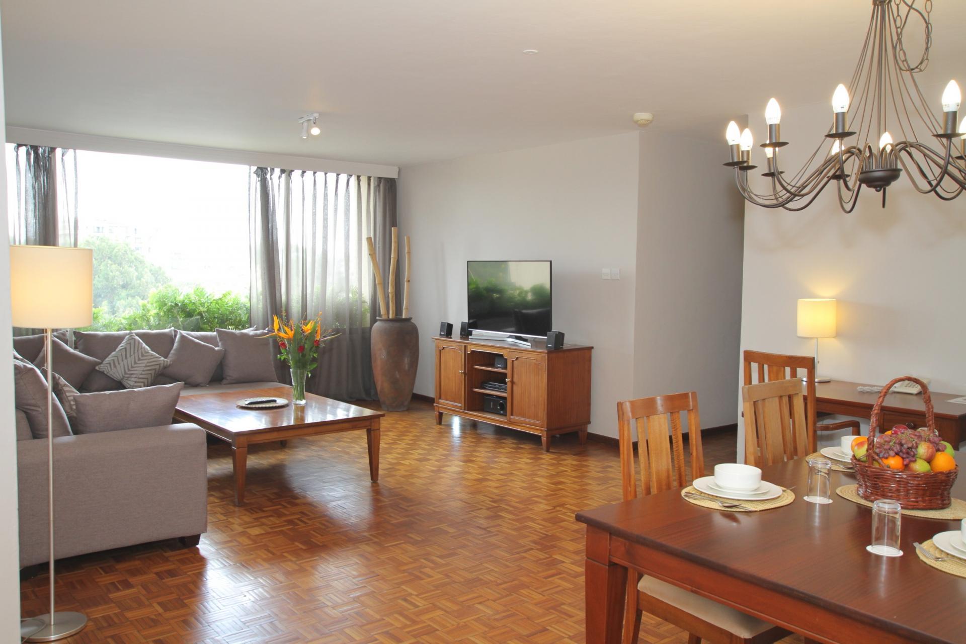 Living room at Yaya Apartments