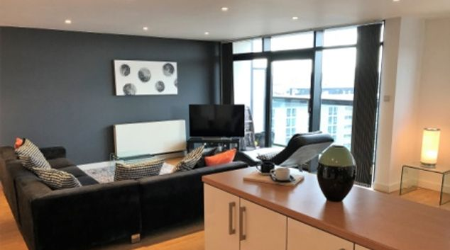 Living room at Clyde Arc View Apartment