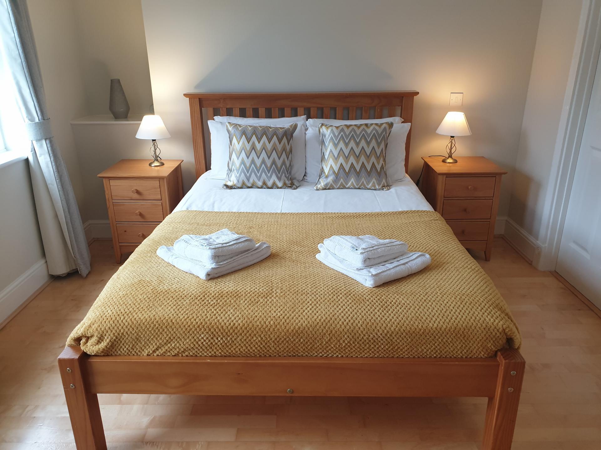 Master bedroom at Alexander La Roche Court Apartments, Richmond, London