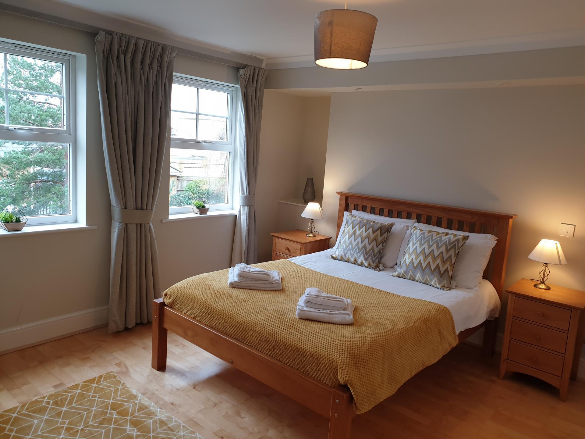 Bed at Alexander La Roche Court Apartments, Richmond, London