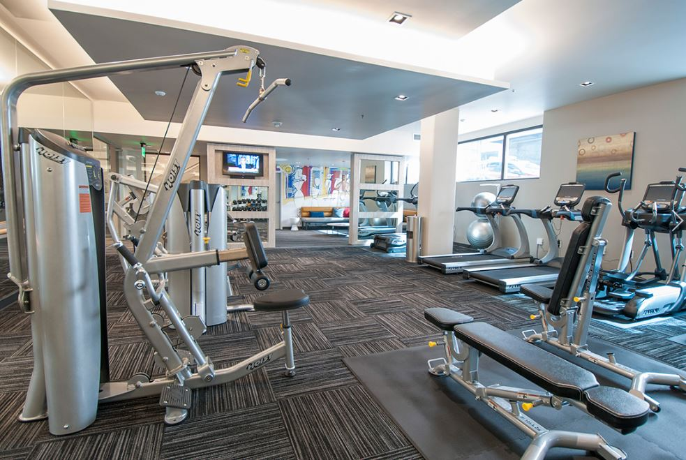 Fitness centre at Cyrene Apartments