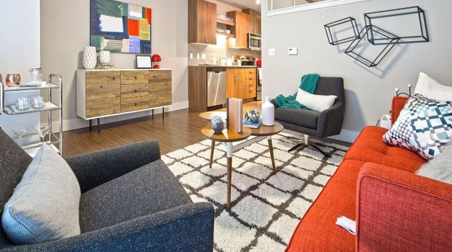Living room at Astro Apartments