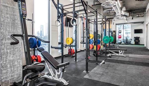 Fitness center at AMLI Arc Corporate Housing