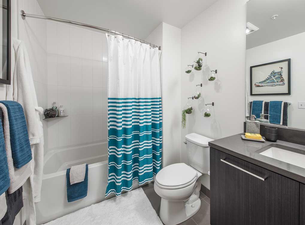 Bathroom at AMLI Arc Corporate Housing