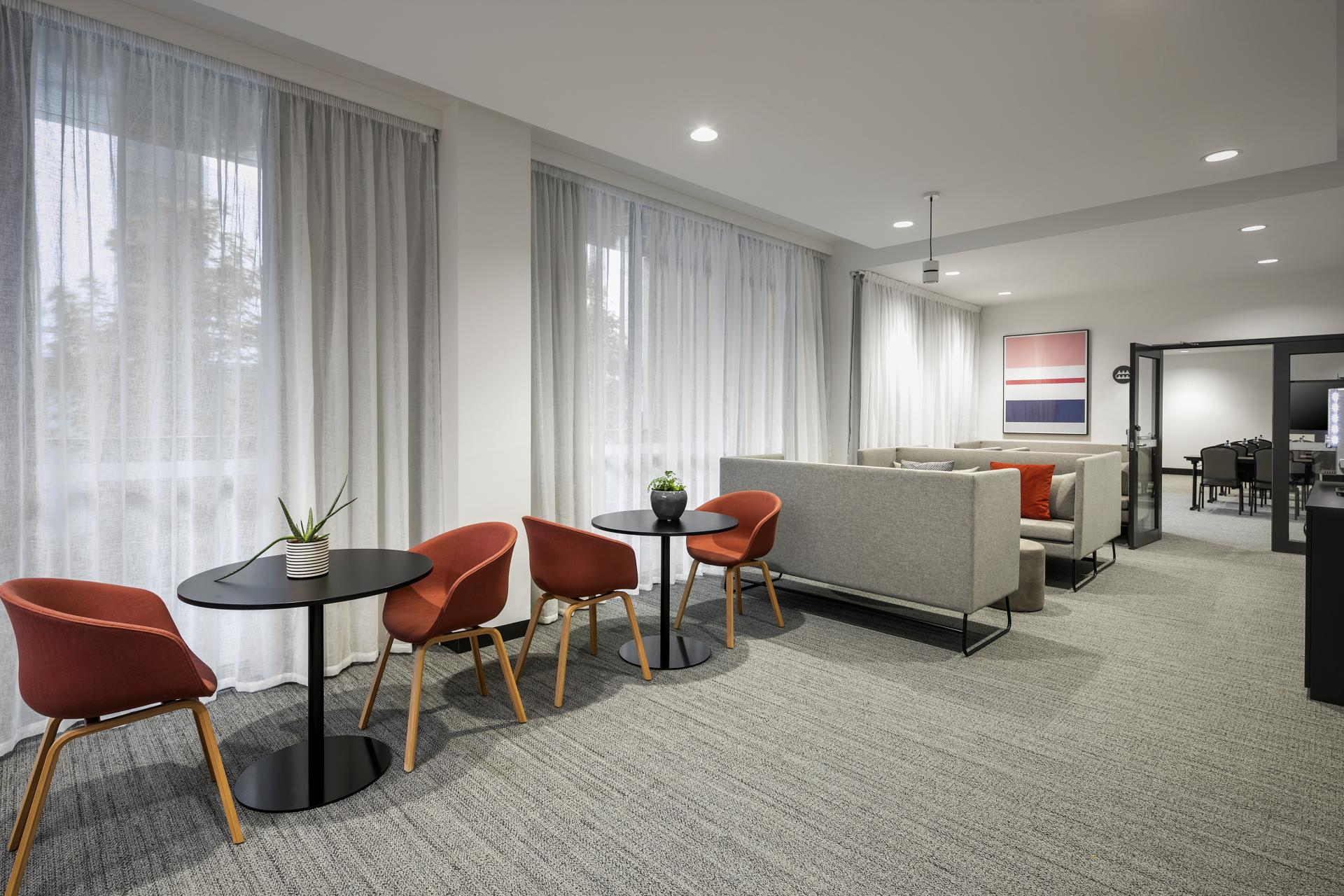 Business lounge at Quest Notting Hill Apartments