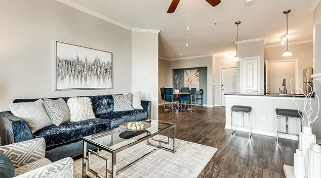 Lounge at Hue at Cityplace Corporate Housing, Uptown, Dallas
