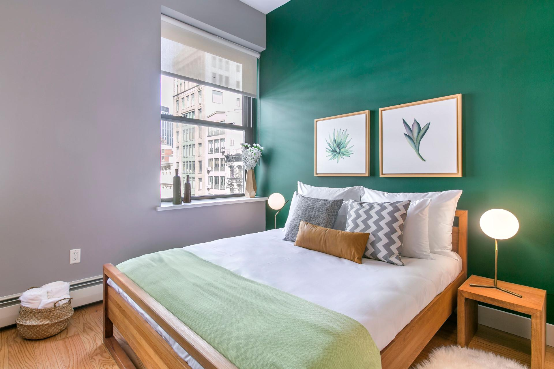 Bedroom at West Broadway Apartment