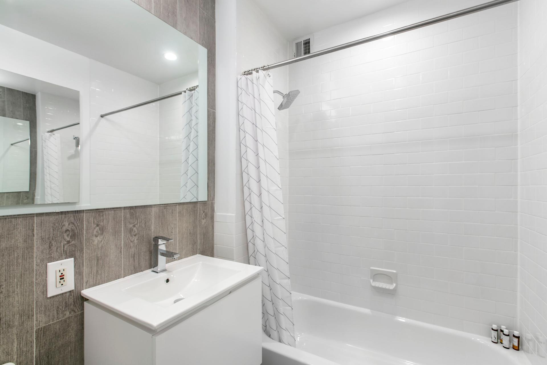 Bathroom at West Broadway Apartment