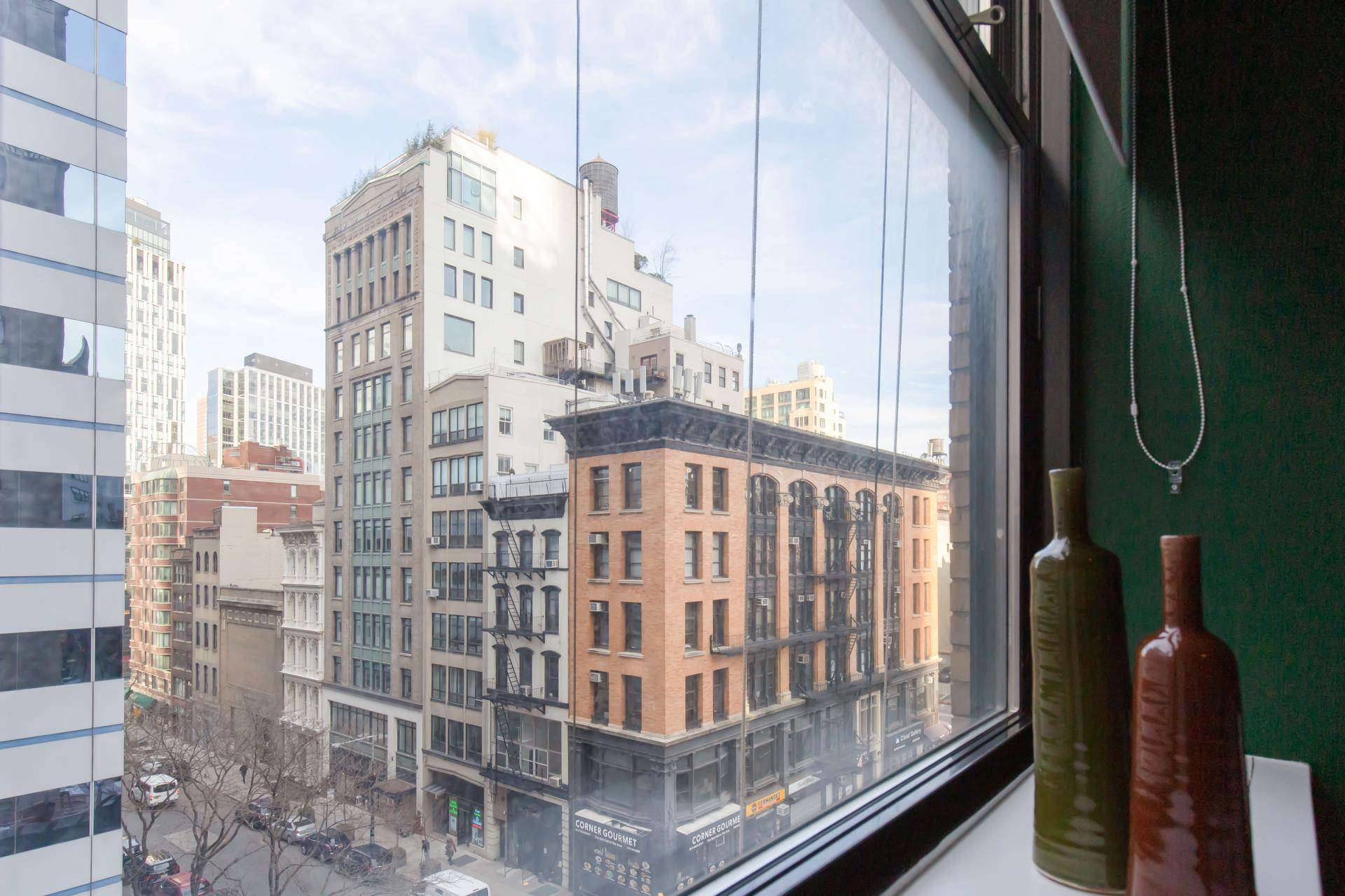 View at West Broadway Apartment