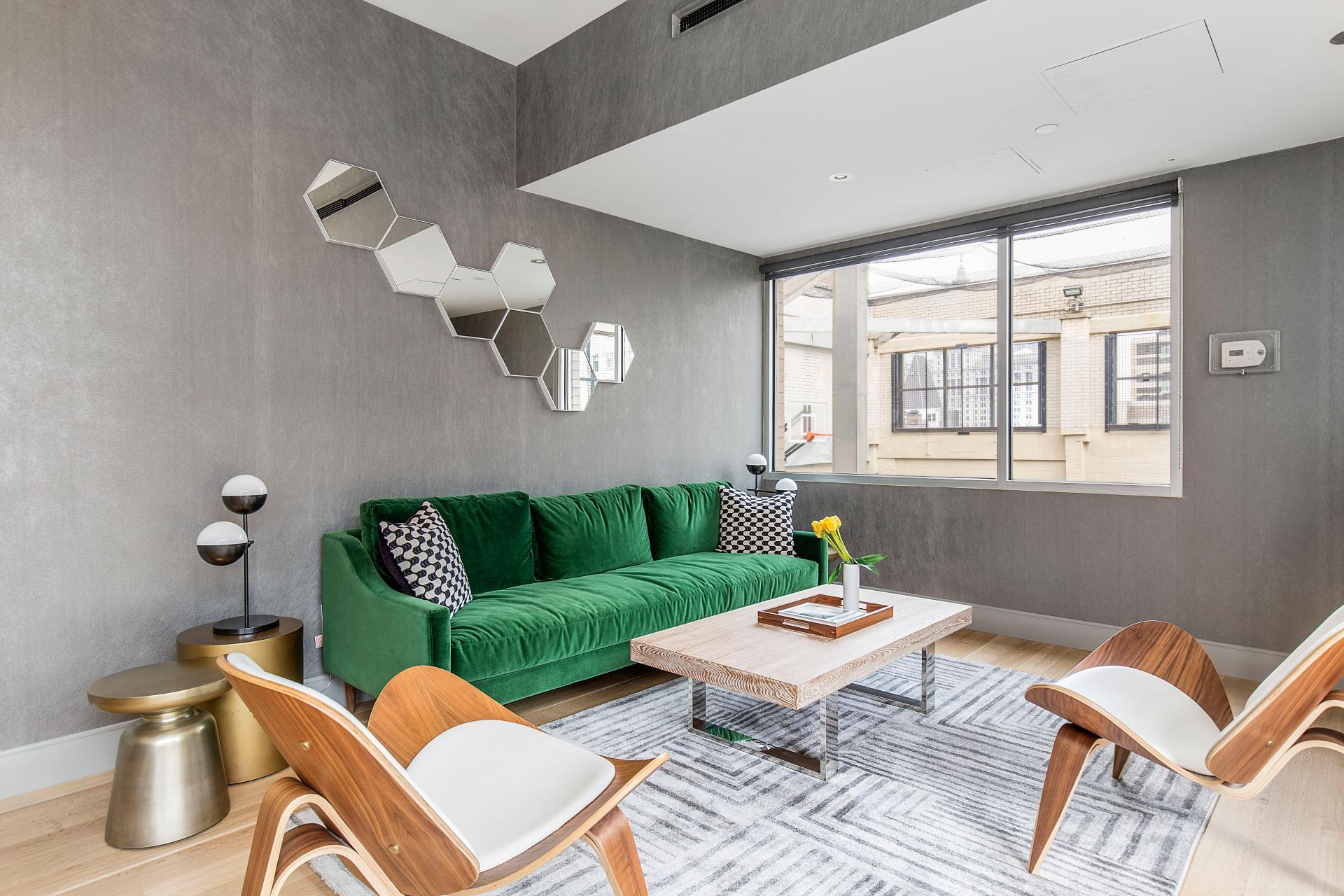Spacious communal area at West Broadway Apartment