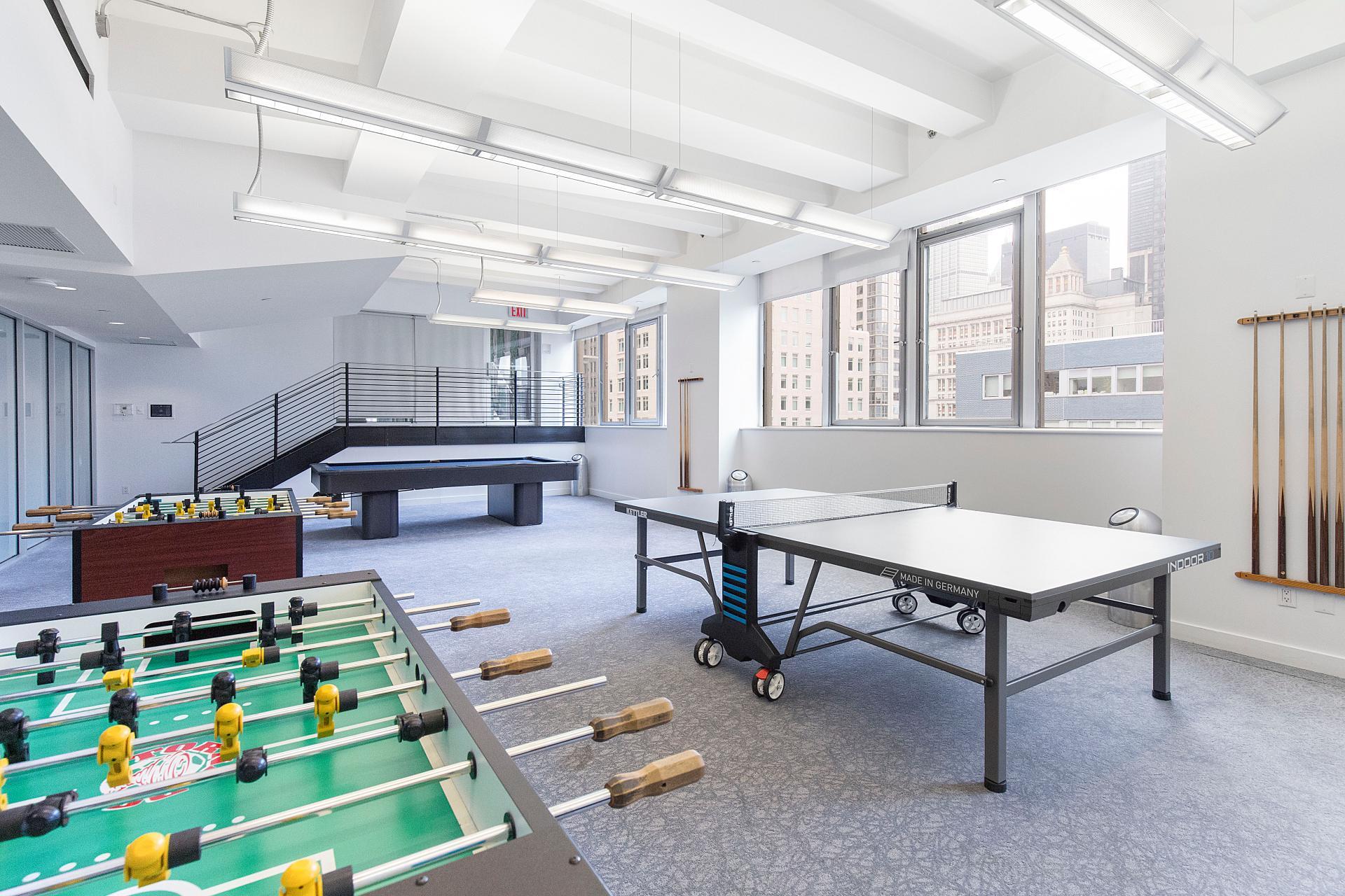 Games area at West Broadway Apartment