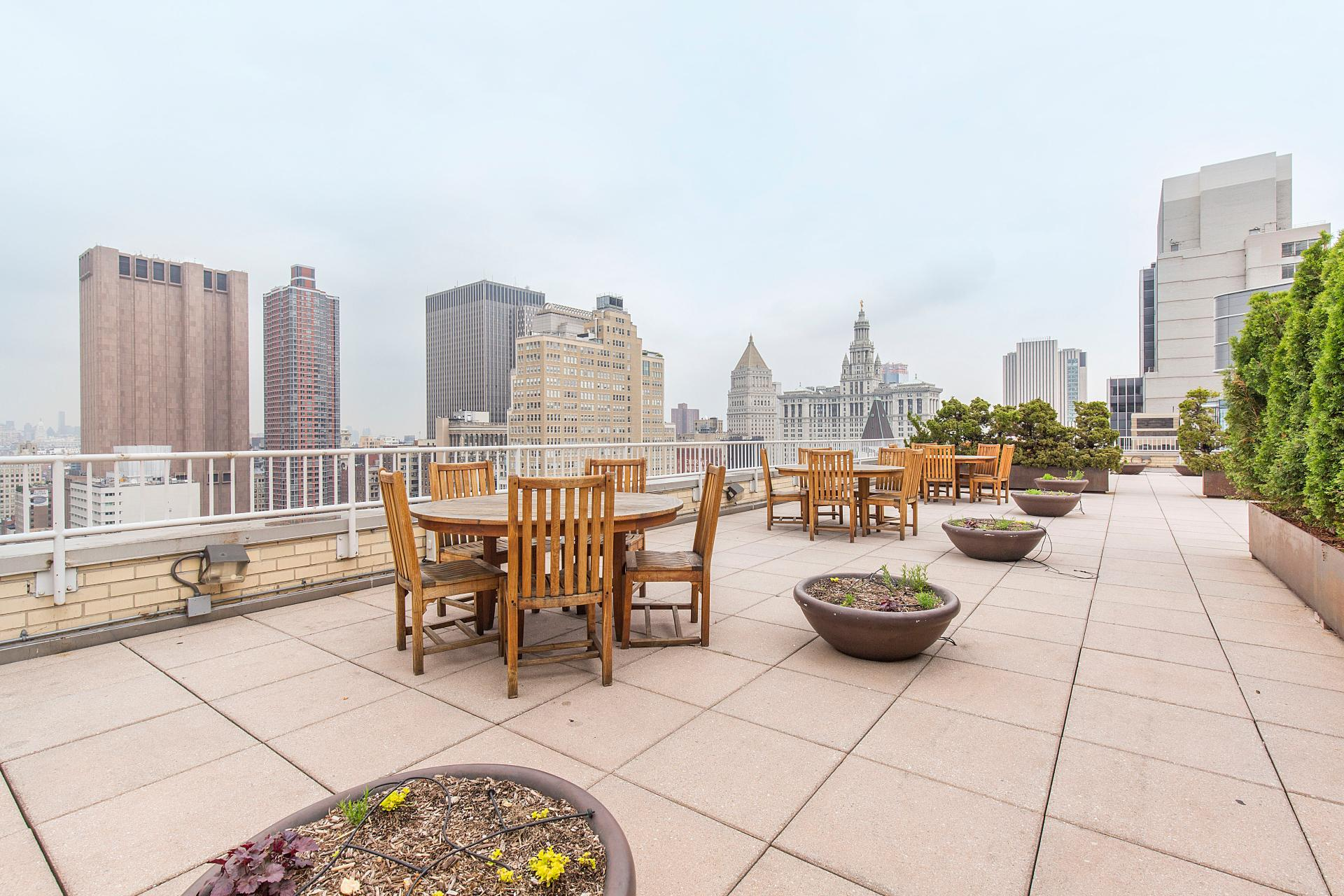 Terrace area at West Broadway Apartment