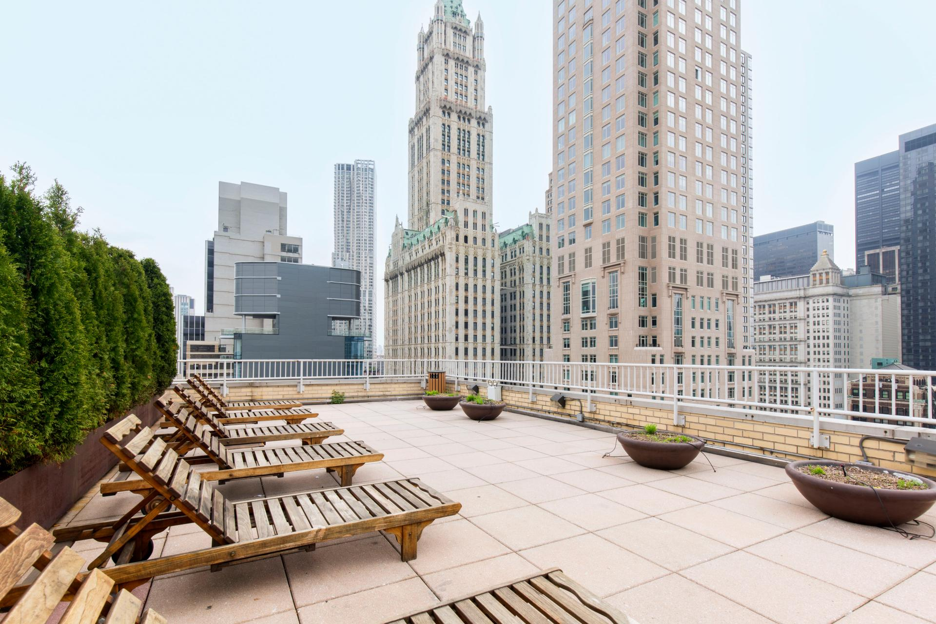 Roof deck at West Broadway Apartment